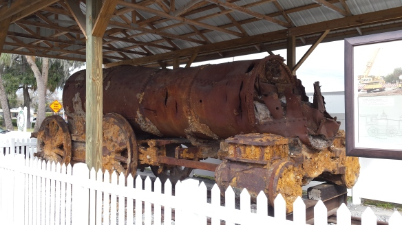 This is the biggest thing they found, a old locomotive!