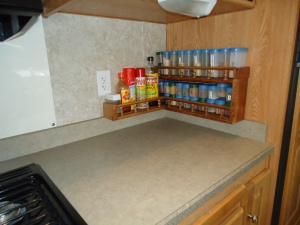 These spice racks may not seem much, but I made them for our boat Butterfly Dream, they were in out first fifth wheel, and our mountain cabin.