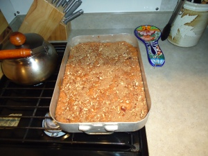 First World Famous Coffee Cake made in the fifthwheel