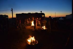 Wednesday night campfire.