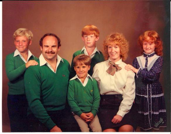 Official family portrait from 1984.