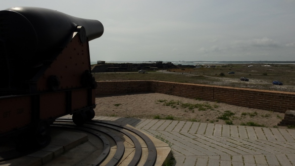 The canons could cover the entire harbor entrance.