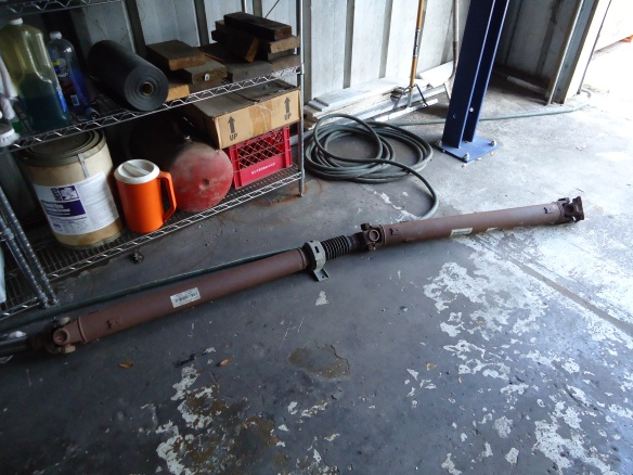 Yup, that's our drive shaft.