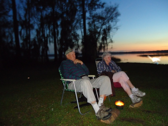 Campfire hosts, Ken and Helen from Maine.