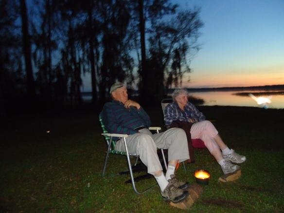 Campfire hosts, Ken and Helen from Maine.