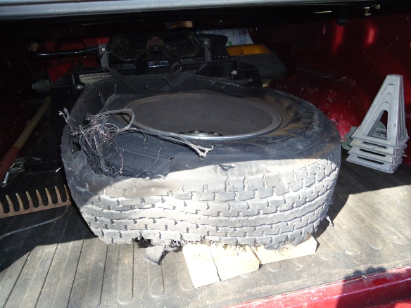 That is one messed up tire, but the tread is still top rate.