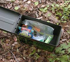 "People leave some of their ""goodies"" inside this geocache."