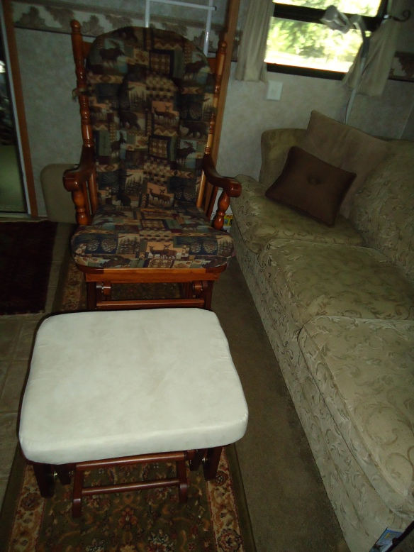 We have been looking for a ottoman to go with her chair, we have the fabric for it.
