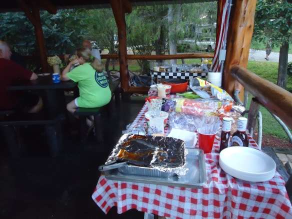 Can you believe we cooked 19 pounds of BBQ for Labor Day in our RV?