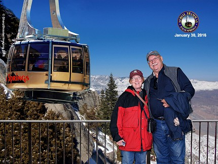 Miss Peggy and I visited the Palm Springs Aerial Tram for the two and one-half mile trip to the 8,000 peak. We have dinner up there and watched the sunset.